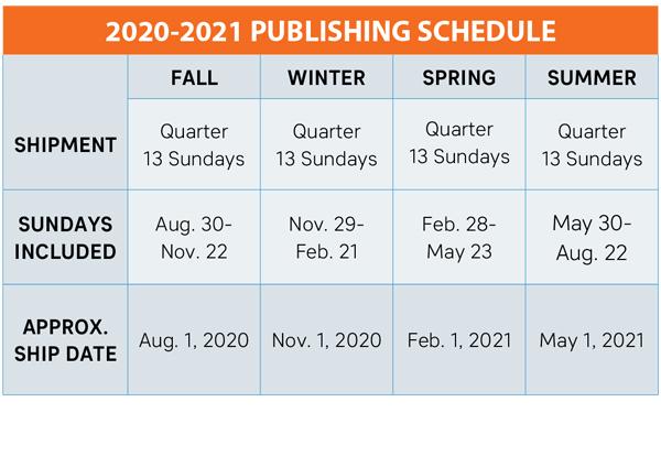 CC Schedule Fall20